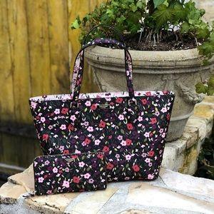 NWT kate spade floral handbag&wallet